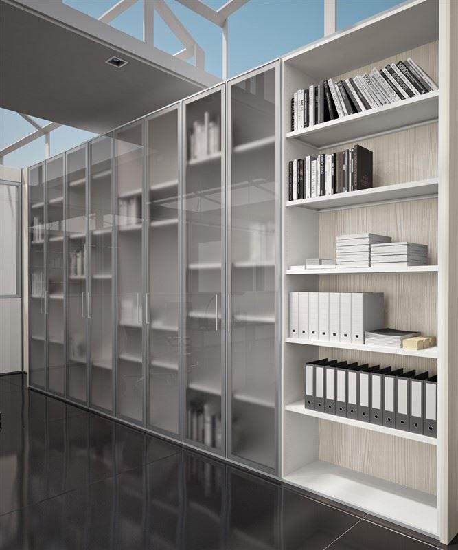 Pareti per ufficio divisorie attrezzate in vetro office for Pareti per ufficio